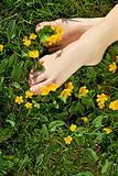 Relaxing spring feet - the joy of simple things
