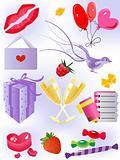Valentine vector icon set