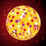 Vector retro disco ball