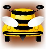Bee-car, vector