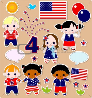 Children set Fourth of July