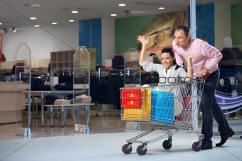 The cheerful shopping