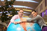 Couple on globe