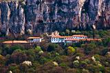 monastery high in mountain