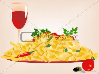 Pasta, vector