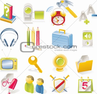 Vector objects icons set. Part 2