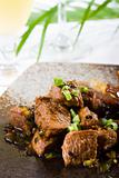 beef cooked in black bean sauce
