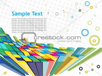 abstract 3d mosaic background