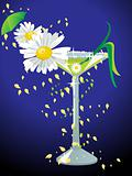 Spring cocktail, vector