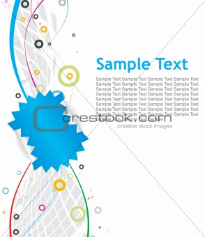 abstract mosaic tag background