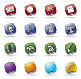 internet glass vector icons