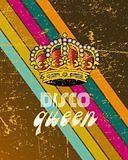 retro disco poster