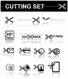 vector icons - scissors set