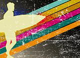 grunge surfing poster