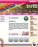 retro disco website template