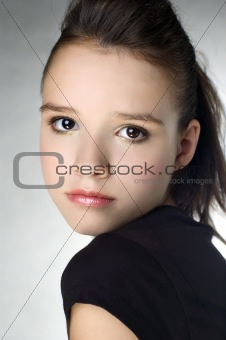 Beautiful young girl portrait