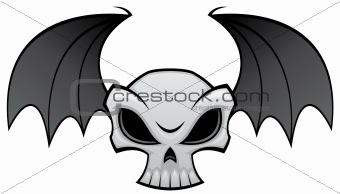 Bat Wing Skull