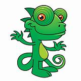 Happy Chameleon Character