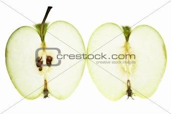 Green apple slices