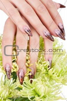 Closeup image of beautiful nails