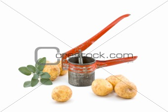 Potatoes with Ricer and Sage