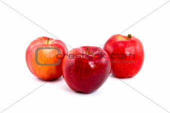 Three Red Gala Apples