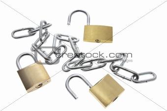 Padlocks and Chain