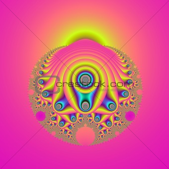 Abstract Mollusc in Pink