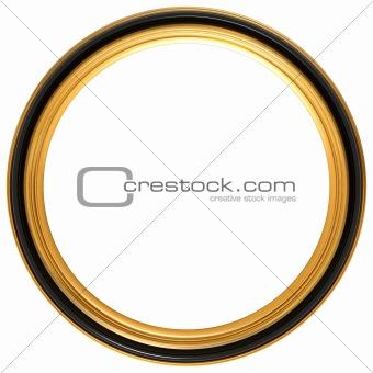 Circular antique picture frame