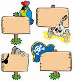 Pirate wooden signs collection