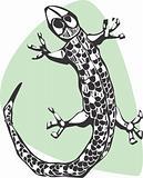 Woodcut Lizard
