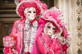 Carnival couple in Venice