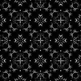 Black and white seamless wallpaper pattern