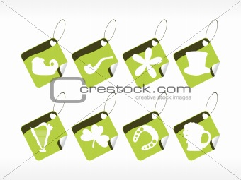 green tags for st. patrick's day