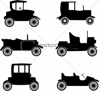 old timer car  vector illustration
