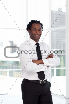 Business leader with arms Folded