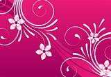 pink abstract floral design
