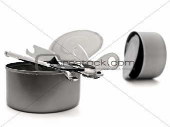 tins with opener