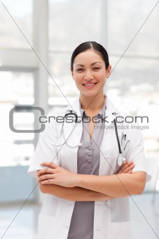 Happy Female Doctor smiling
