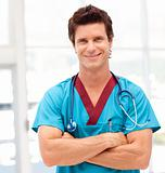 Young Confident doctor looking at camera