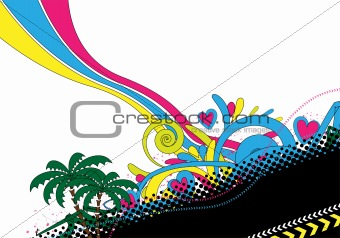 abstract colorful design with text frame
