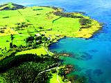 Aerial of Northland Coastline, New Zealand