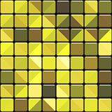 glossy yellow square tiles