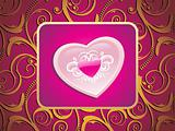 pink heart frame with creative artwork background