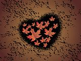 texture background with grungy heart