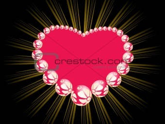 pink ornate pattern heart