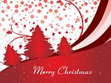 red christmas tree background with stripes