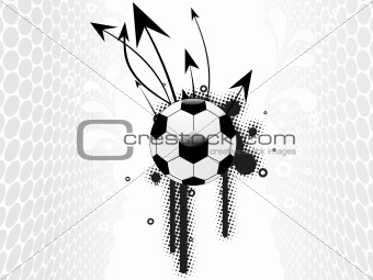 grey dots background with arrows, soccer