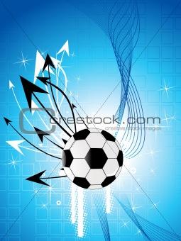 football with arrowhead and waves
