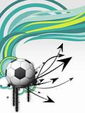 green stripes background with soccer